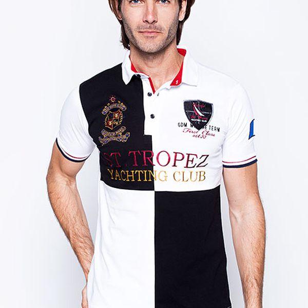 Bílá polo košile St. Tropez