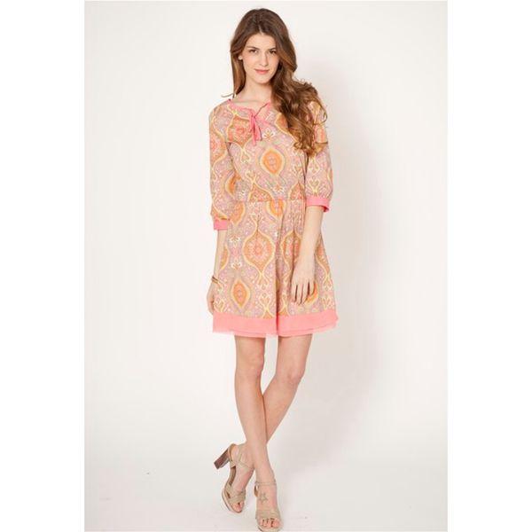 Dámské šaty Tantra růžové se vzorem