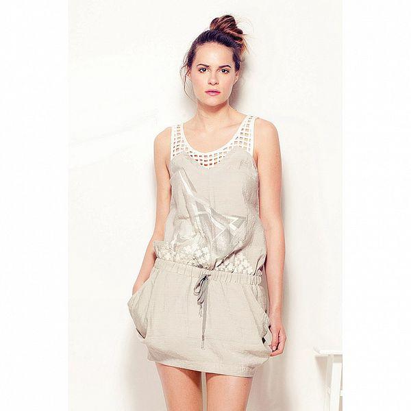 Dámske šedo-béžové šaty Angels Never Die