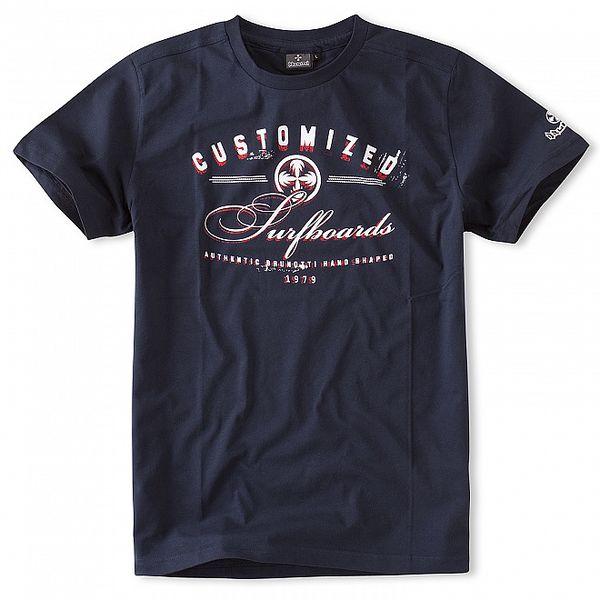 Pánská temně modré tričko Brunotti s potiskem