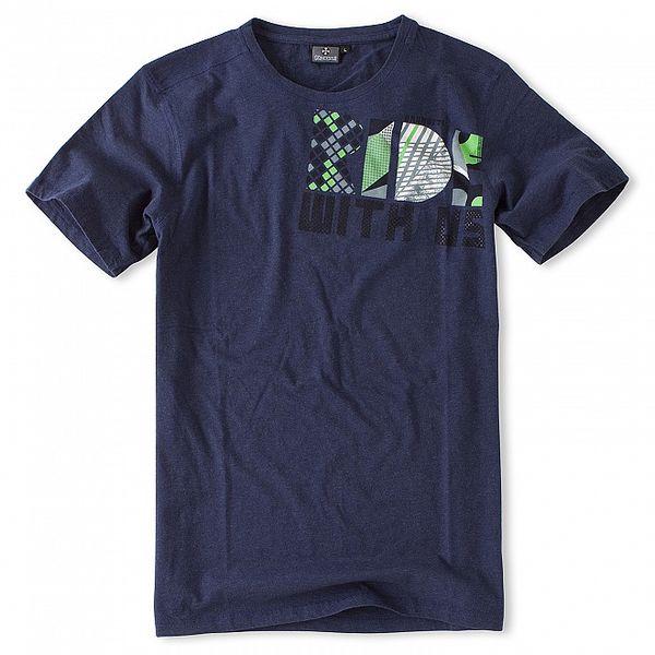 Pánské tmavě modré tričko Brunotti s potiskem