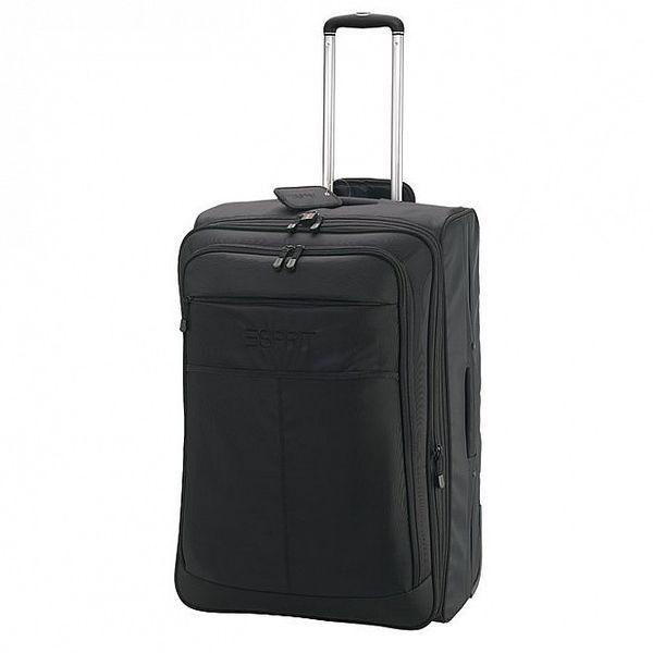 Černý kufr na kolečkách ESPRIT
