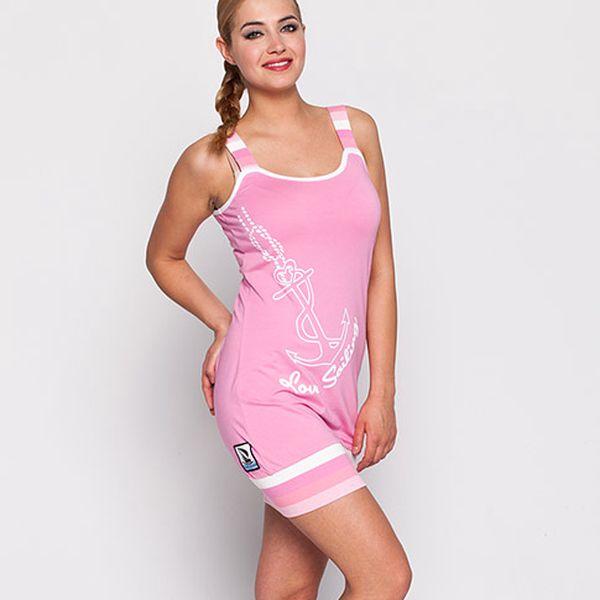 Růžové šaty na ramínka