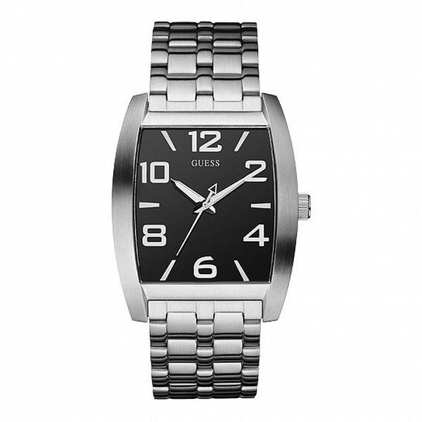 Pánske oceľové hodinky s hranatým ciferníkom Guess