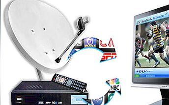 Satelitní TV včetně HD přijímače, dekódovací karty a instalace na místě za skvělých 999 Kč!