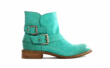 Dámské zelené nízké kozačky Shoes in the City