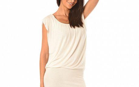 Dámske biele šaty s riasením Boheme a Paris
