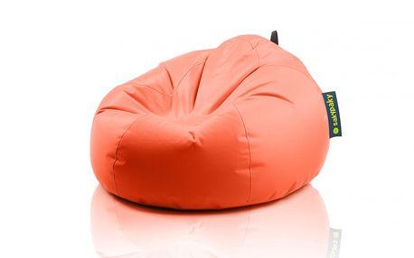 Sedací vak Želva, oranžový - jednovrstvý vak vyrobený z vysoce odolného a kvalitního polyesteru