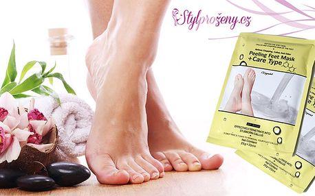 Exfoliační ponožky pro hebké nožky