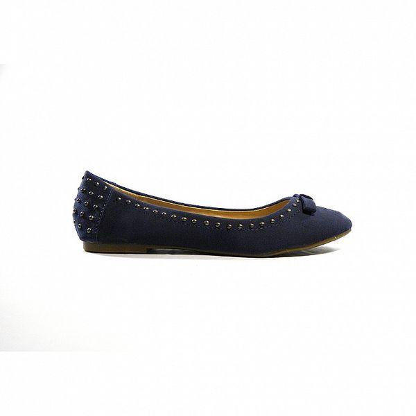 Dámské modré semišové baleríny Shoes in the City