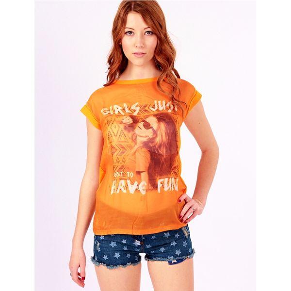 Dámské triko Brave Soul Havefun oranžové