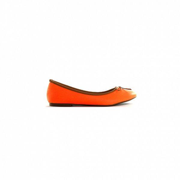 Dámské oranžové kožené baleríny Shoes in the City