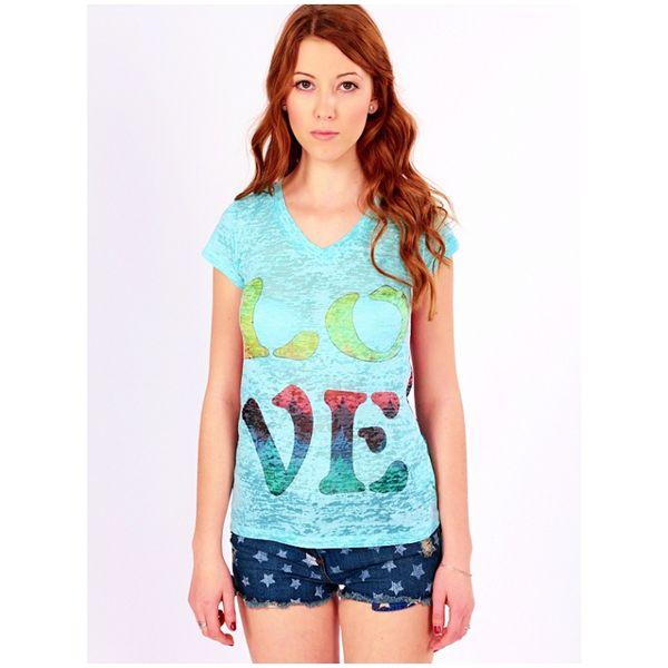 Dámské triko Brave Soul Love světle modré