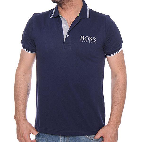 Námořnicky modré polo tričko