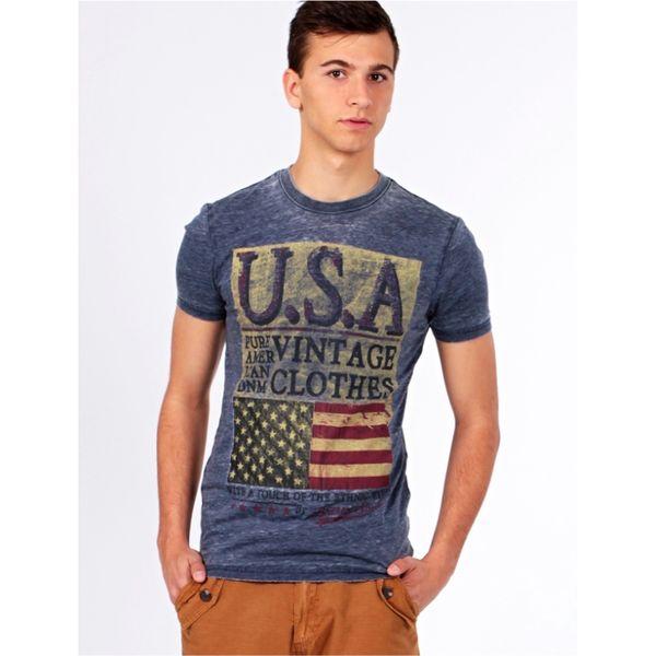 Pánské triko Brave Soul USA modré