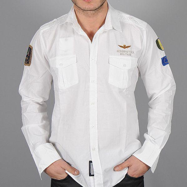 Pánska biela letecká košeľa Auronautica Militare
