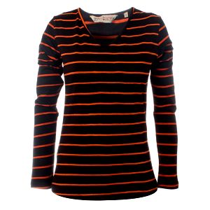 Dámské hnědo-oranžové pruhované triko Savage Culture