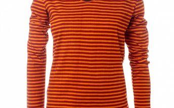 Dámské červeno-oranžové pruhované triko Savage Culture