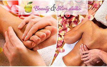 Reflexná masáž chodidiel, reflexná masáž chrbta a rúk alebo klasická masáž