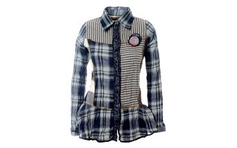 Dámská modro-šedá kostkovaná košile Savage Culture