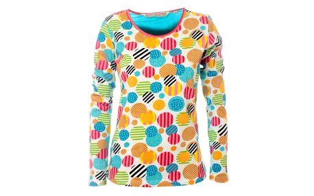 Dámské bílé tričko Savage Culture s barevnými kolečky
