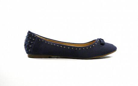 Dámske modré semišové baleríny Shoes in the City