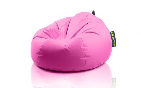 Sedací vak Želva, růžový - jednovrstvý vak vyrobený z vysoce odolného a kvalitního polyesteru