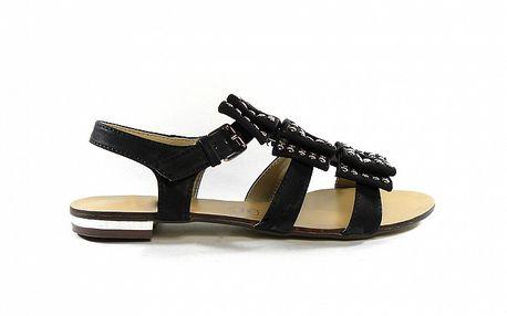 Dámske čierne gladiátorky s cvočkami Shoes in the City