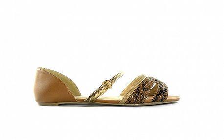 Dámske ťavie sandálky s béžovými hadími pásikmi Shoes in the City