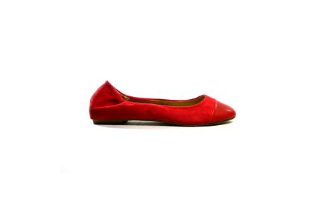 Dámske červené kožené baleríny Shoes in the City