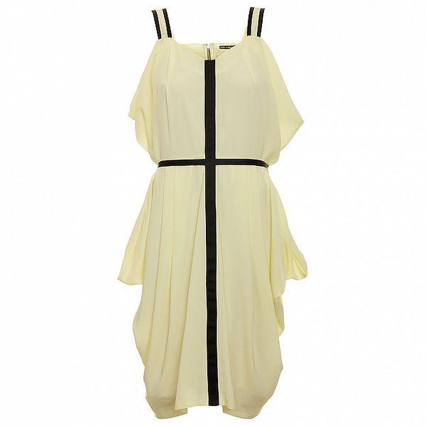 Dámske biele šaty s čiernym krížom Pietro Filipi