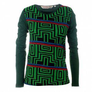 Dámske zelené tričko Savage Culture s geometrickým vzorom