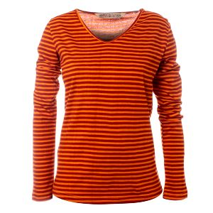 Dámske červeno-oranžové pruhované tričko Savage Culture