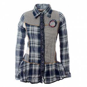Dámska modro-šedá kockovaná košeľa Savage Culture