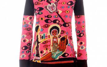 Dámska ružová tunika Savage Culture s africkým motívom