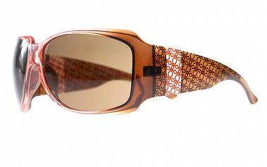 Dámské hnědo-oranžové sluneční brýle Benetton