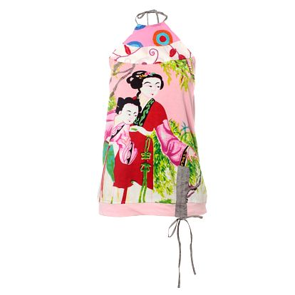 Dámsky ružový top Savage Culture s gejšami