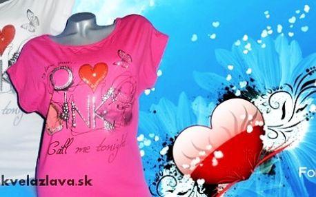 Dámske tričko Love za 6,50 € vrátane poštovného!