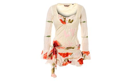 Dámska biela tunika Savage Culture s ružami