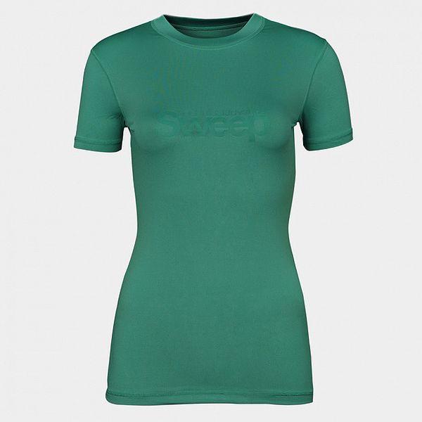 Dámské zelené tričko Sweep s logem