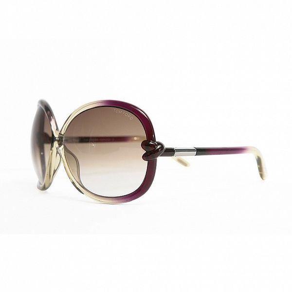 Dámské fialovo-transparentní sluneční brýle Tom Ford