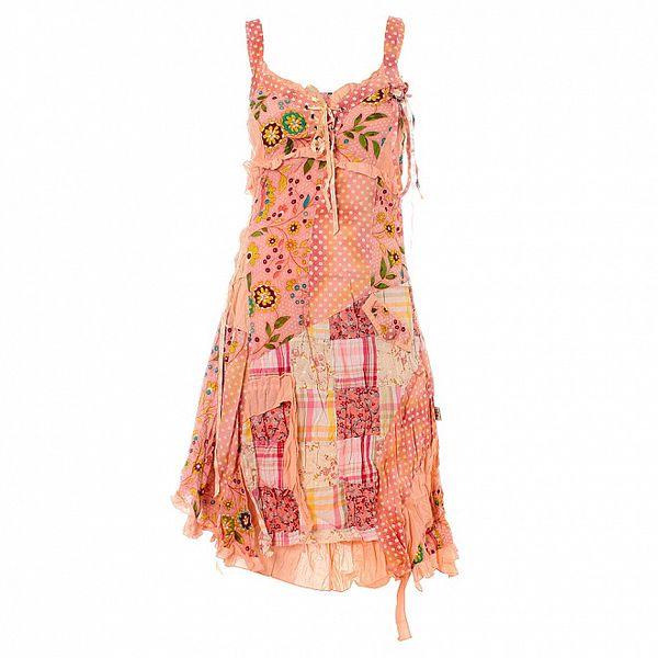 Dámske ružové šaty Savage Culture s potlačou