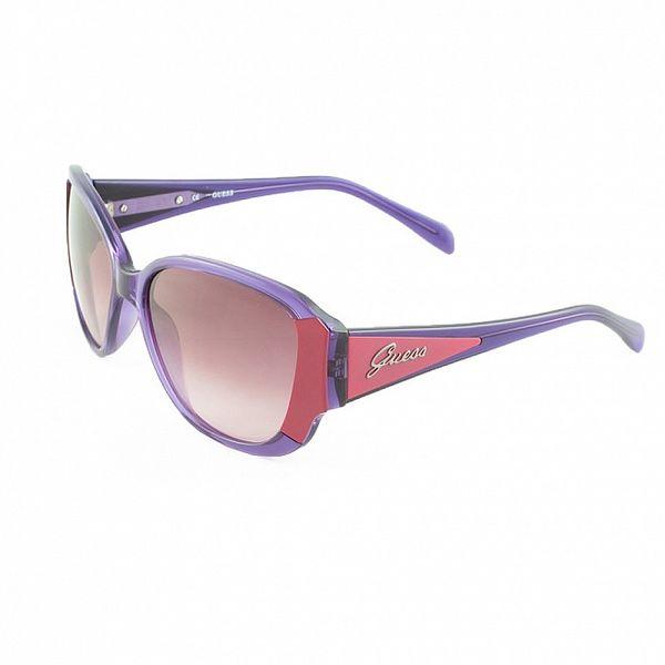 Dámské růžovo-fialové sluneční brýle Guess