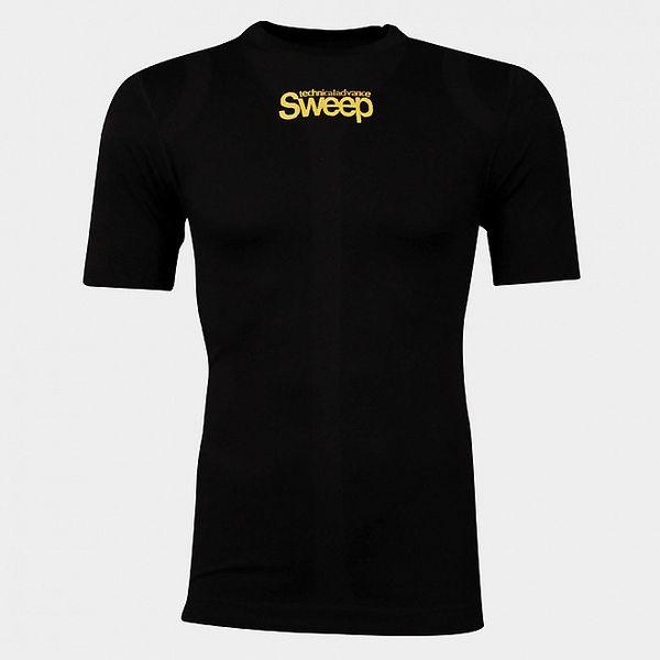 Pánske čierne bezošvové tričko Sweep