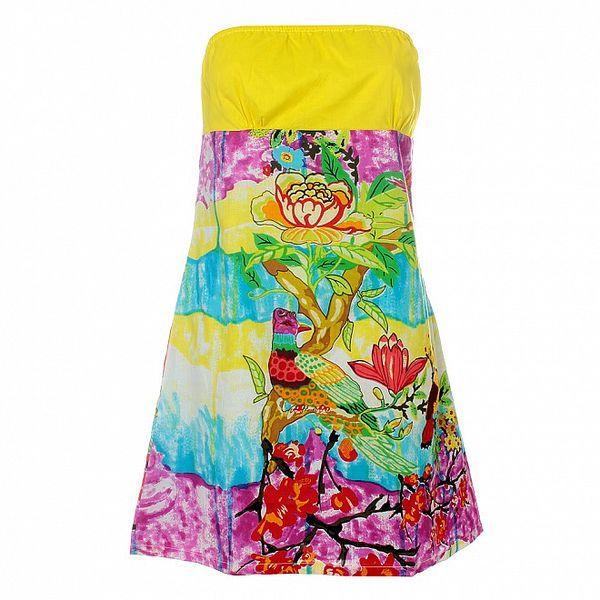 Dámske pestré tropické šaty bez rukávov Savage Culture