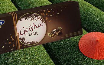 Exkluzivní bonboniéra Geisha Extra Dark 320gr! Limitovaná edice s výrobou pouhých 100 000ks pro celou Evropu! Vyzkoušejte tuto lahodnou čokoládu i Vy a zamilujete si ji!