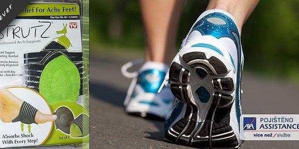 Podpora pro chodidla Comfort Strutz. Chytrá pomůcka podporuje klenbu nohou, absorbuje nárazy při každém kroku a tím ulevíte bolesti kloubům.