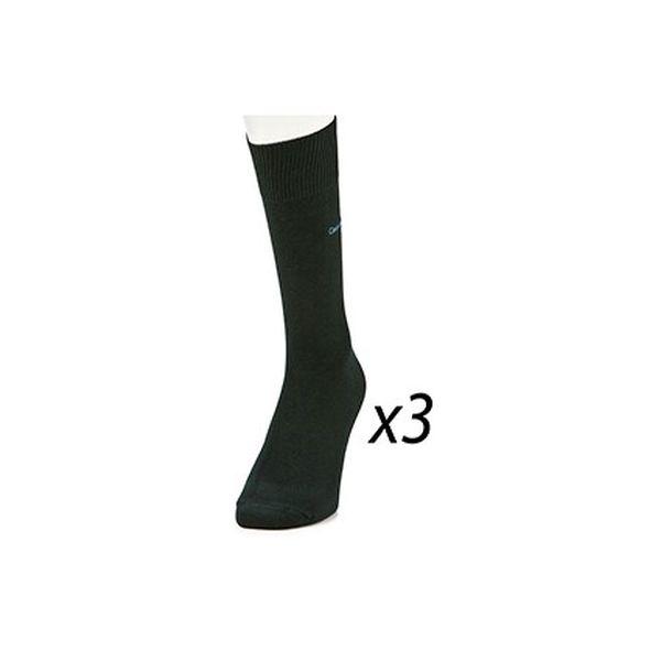 Pánské ponožky Calvin Klein tmavě zelené, 3 páry