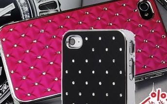 Jedinečný kryt s kryštálmi pre iPhone 4/4S v ôsmich farbách za 4,40 € vrátane poštovného!