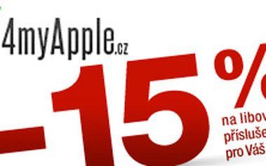 Pro váš Apple! Sleva 15 % na první nákup originálního příslušenství pro Váš iPhone, iPad, iPod či Macbook.